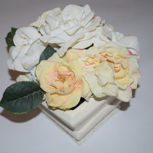 Accents - Artificial Flowers Roses French Country Plant Pot